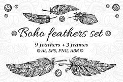 Boho feathers set Product Image 1