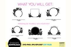 Monogram SVG File, Family Monogram SVG, Floral monogram SVG Product Image 2