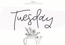 Tuesday - Handwritten Script Font Product Image 1