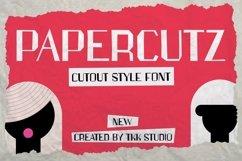 PAPERCUTZ - Cutout Style Font Product Image 1