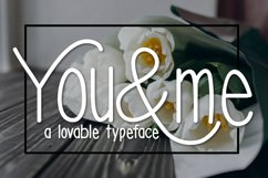 You & Me Typeface Product Image 1