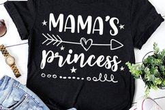 Mamas Princess - Little Princess SVG DXF EPS PNG Product Image 2