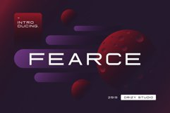 Fearce Typeface & Space Flyer Product Image 1