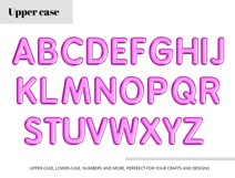 Purple Foil Balloon Letters Numbers & Symbols Clipart Product Image 4