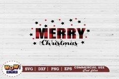 Merry Christmas plaid svg, Merry Christmas svg, Christmas Product Image 2