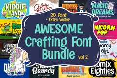 Awesome Crafting Font Bundle Vol. 2 Product Image 1