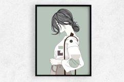Art Print | Wall art Girl fashion,Minimalist Artwork Product Image 1