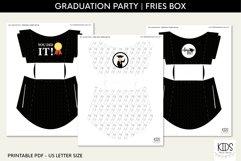 Girl Graduation party fries box, graduate printable decor Product Image 3