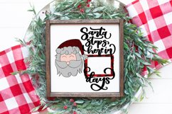Santa Stops Here Sublimation Design Product Image 1