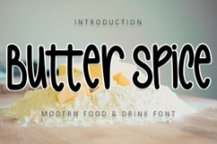 Butter Spice - Modern Food & Drink Font Product Image 1