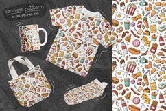 Doodle Fast Food Big set Clipart Product Image 4