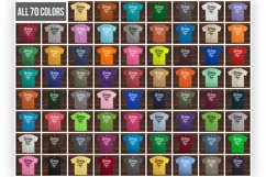 Wooden Background 70 Color Gildan Tshirt Mockup Bundle Product Image 2