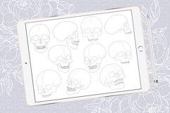 Skulls procreate stamp brushes Product Image 2
