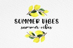 Lemon Summer Font Duo Product Image 2