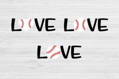 Love Baseball Svg Designs, Baseball Love Svg Files Cricut Product Image 4
