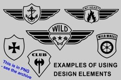 Patch templates for military and biker design Product Image 4