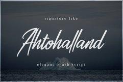 Ahtohalland elegant signature script Product Image 1