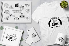 Welcome Baby Girl illustrations Product Image 2