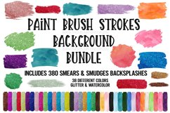 Brush Strokes Background Bundle Glitter & Watercolor PNG Product Image 1