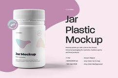 5 Mockups Plastic Jar For Cosmetic and Medical Products Product Image 1