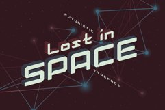 Lost in space. Futuristic typeface Product Image 1