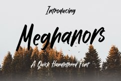Web Font Meghanors - Quick Handlettered Font Product Image 1