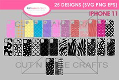25 iPhone 11 SVG Designs| Phone Case Decals Product Image 2