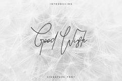 Good Wish Signature font Product Image 1
