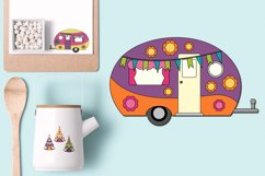 Happy camper Teepee Tent - Camping Caravan Graphics Product Image 5