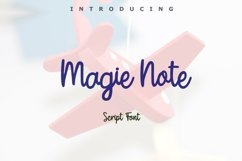 Magie Note Font Product Image 1