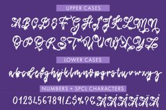 Spooky Halloween Dripping Script With Doodles Product Image 3