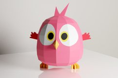 PDF Template of Baby Bird On Moon / Hatchling / Papercraft Product Image 2