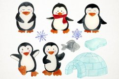 Watercolor Penguins Clipart, Penguins Clipart, Penguins PNG Product Image 2