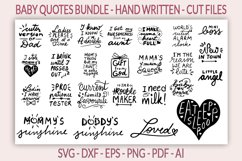 25 Baby SVG Bundle - Baby quotes SVG - New born quotes SVG Product Image 1