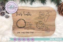 Dear Santa Cookies for Santa Tray SVG Product Image 1