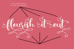 Simply Styled, a flourished ornamental script font Product Image 5
