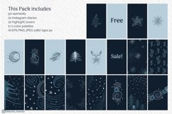 Abstract Winter Social Media Stories Layout in modern style Product Image 2