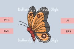 Butterfly Steampunk Style | SVG file Product Image 5