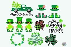 St Patrick's Day svg, Bundle svg, Clover svg, Cricut Files Product Image 5