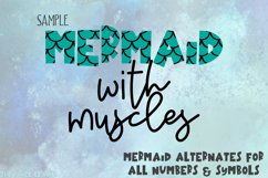 Mermaid Angelfish With Scales Font Product Image 2
