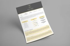 Black Gold Resume Template Product Image 5