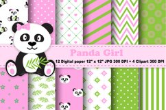 Panda Digital Paper, panda Boy Background, Animals. Product Image 1