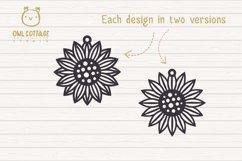 Sunflower Earrings mini SVG Bundle, Sunflower Clipart, Earri Product Image 6