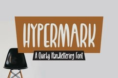Web Font Hypermark - quirky Handlettering Font Product Image 1
