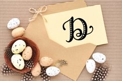Hand Lettered Stripe Monogram Initials Font Product Image 5