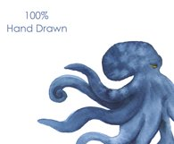 Watercolor clipart. Octopus and Jellyfish clipart. Product Image 3