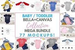 Baby Toddler Bella Canvas Mockup Mega Bundle Kids Apparel Product Image 1