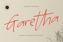 Garetha - Beauty Handwritten Font Product Image 1