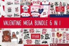 Valentines SVG bundle. Valentine mega bundle 6 in 1. Product Image 1