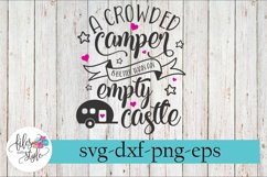 Crowded Camper Better Than Empty Castle SVG Cutting Files Product Image 1